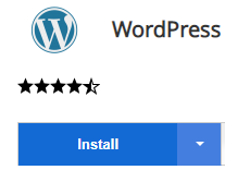 One Click Install WordPress